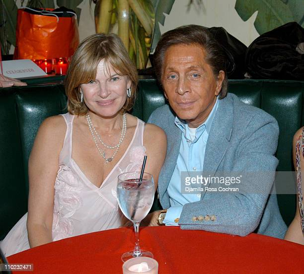 Anne McNally and Valentino during Indochine's 20th Anniversary Celebration at Indochine in New York City New York United States