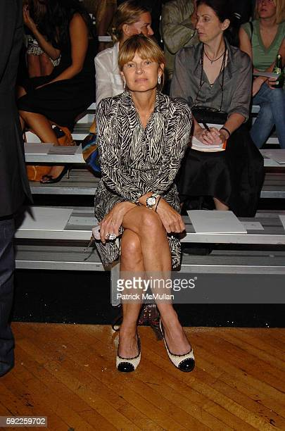 Anne McNally attends Marc Jacobs Spring 2006 Collection at New York State Armory on September 12 2005 in New York City