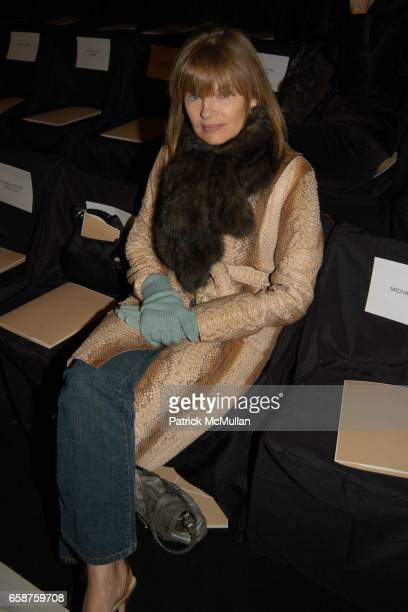 Anne McNally attends Michael Kors fashion show at at the tents on February 11 2004 in New York City