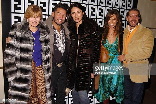 Anne McNally Carlos Mota Anh Duong Allison Sarofim and Christian Leone attend FENDI hosts a CD Launch Party for musical duo Mother Inc at Marquee on...