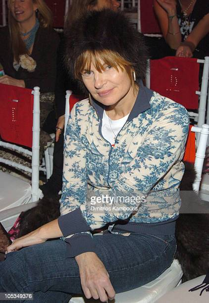 Anne McNally during Olympus Fashion Week Fall 2004 Diane von Furstenberg Front Row and Backstage at 389 West 12th Street in New York New York United...