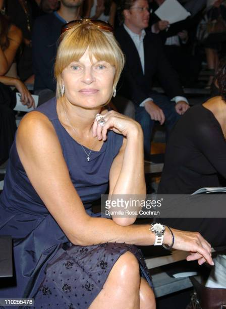 Anne McNally during Olympus Fashion Week Spring 2006 Marc by Marc Jacobs Front Row at The Armory in New York City New York United States