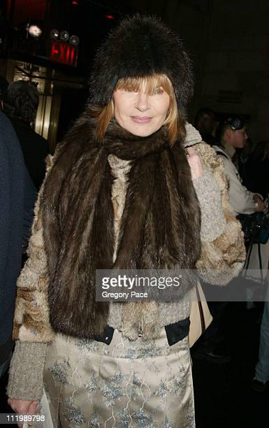 Anne McNally during Sean John Fall 2003 Fashion Show at Ciprianis in New York NY United States
