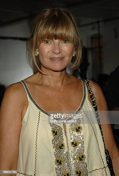 Anne McNally front row at the Rodarte Spring 2008 show during MercedesBenz Fashion Week Spring 2008 at 548 West 22nd street on September 8 2007 in...
