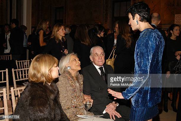 Anne McNally Nen Kempner Kenny Lane and Amy Fine Collins attend Vanity Fair Editor Graydon Carter and Saks Chairman CEO Fred Wilson host a private...