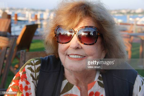 Anne Meara, 1929-2015, wife of Jerry Stiller and mother of Ben Stiller, relaxes on the beach on Nantucket in August in 2011.