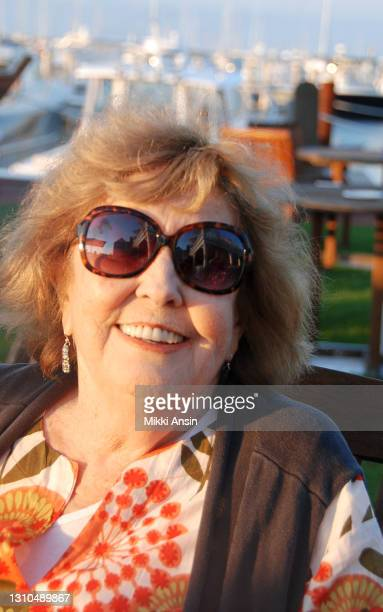 Anne Meara, 1929-2015, wife of Jerry Stiller and mother of Ben Stiller, relaxes on the beach on Nantucket on August 11, 2011.