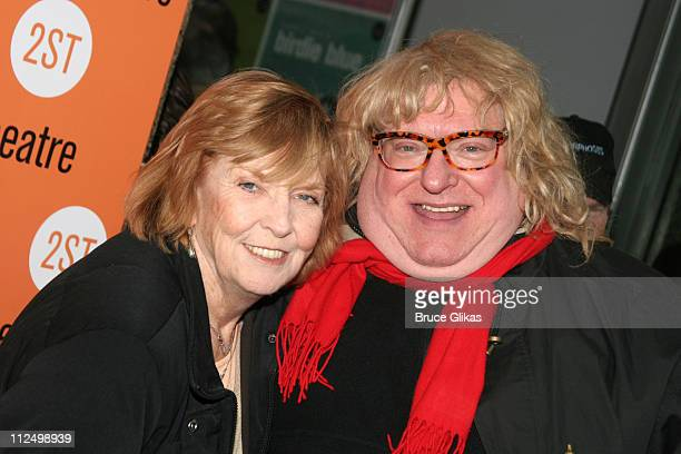 Anne Meara and Bruce Vilanch during Privilege OffBroadway Opening Night Arrivals at Second Stage Theater in New York City New York United States