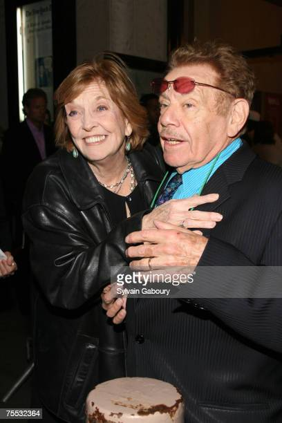 Anne Meara and husband Jerry Stiller at the Longacre Theater in New York New York