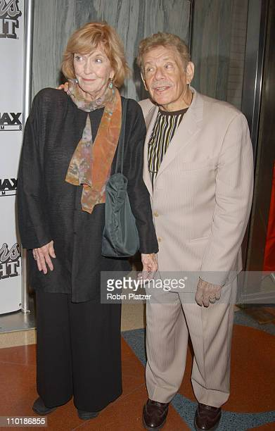 Anne Meara and husband Jerry Stiller during New York Premiere of Duplex at The Beekman Theatre in New York City New York United States