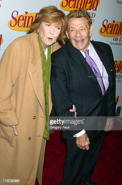 Anne Meara and husband Jerry Stiller during Seinfeld DVD Release Party at Rockefeller Plaza in New York City New York United States