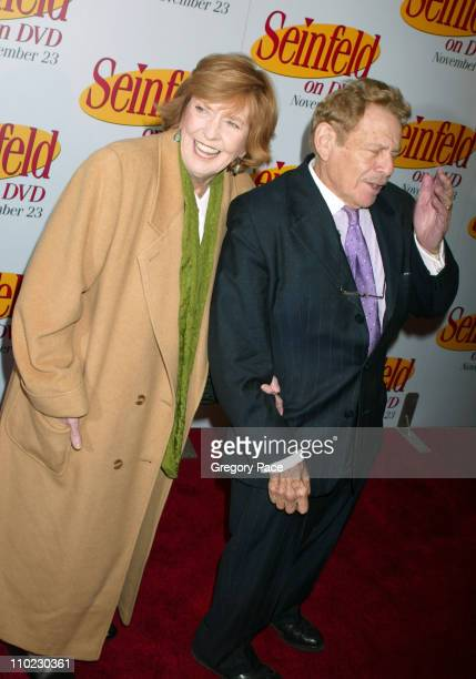 """Anne Meara and husband Jerry Stiller during """"Seinfeld"""" DVD Release Party at Rockefeller Plaza in New York City, New York, United States."""