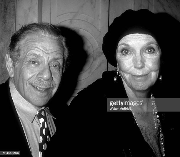 Anne Meara and Jerry Stiller attend the Drama League Awards at the Plaza Hotel on May 1 1996 in New York City