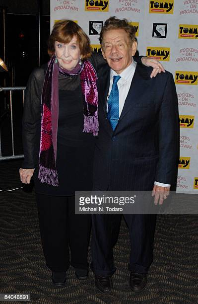 Anne Meara and Jerry Stiller attend The Who's Tommy 15th Anniversary Concert at August Wilson Theatre on December 15 2008 in New York City