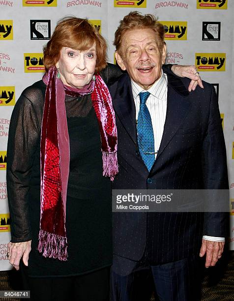 """Anne Meara and Jerry Stiller attends """"The Who's Tommy"""" 15th Anniversary Concert at the August Wilson Theatre on December 15, 2008 in New York City."""