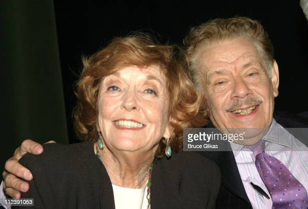 Anne Meara and Jerry Stiller during 58th Annual Tony Awards Nominee Announcements at The Hudson Theater in New York City, New York, United States.