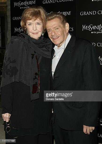 Anne Meara and Jerry Stiller during Ben Stiller and Christine Taylor Host a Grand Classics Screening of Sweet Smell of Success with YSL at the...