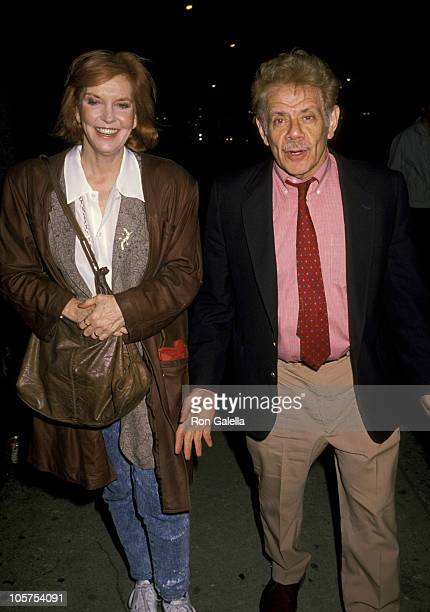 Anne Meara And Jerry Stiller during Benefit For Second Stage April 16 1990 at St Paul's the Apostle Church in New York City New York United States