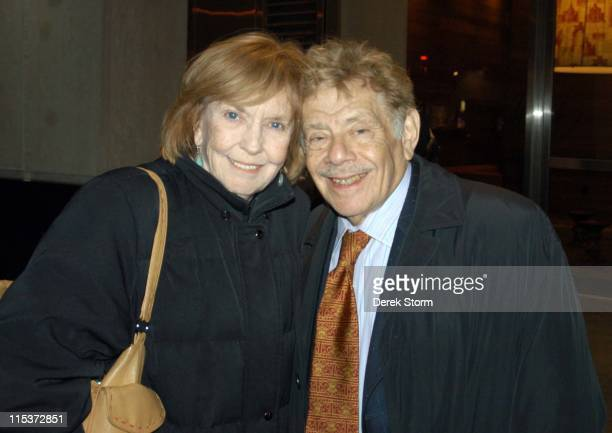"""Anne Meara and Jerry Stiller during Celebrities Attend """"Brooklyn Boy"""" - Febuary 1, 2005 at Biltmore Theater in New York City, New York, United States."""