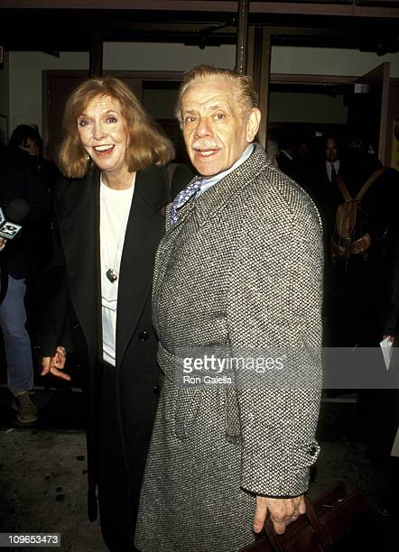Anne Meara And Jerry Stiller during Death Defying Acts Premiere March 6 1995 at Variety Arts Theater in New York City New York United States