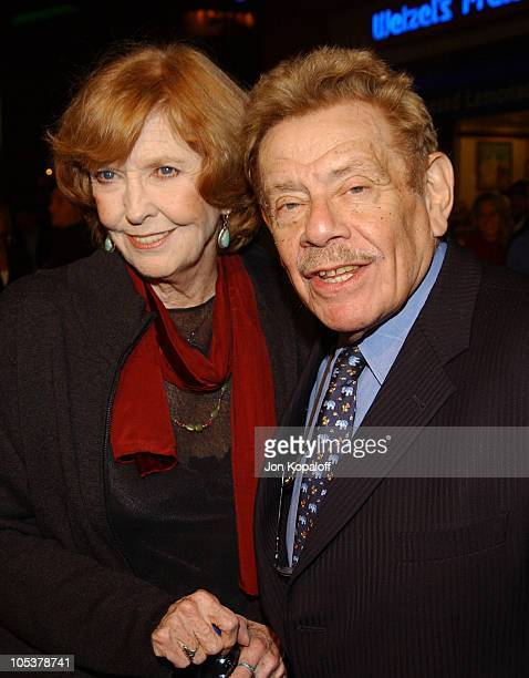 """Anne Meara and Jerry Stiller during """"Meet the Fockers"""" Los Angeles Premiere at Universal Amphitheatre in Universal City, California, United States."""