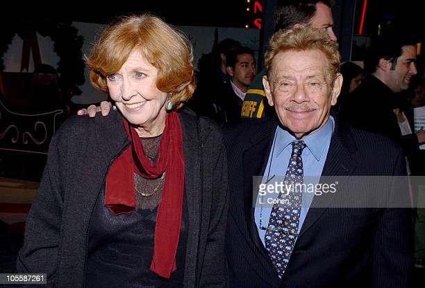 Anne Meara and Jerry Stiller during Meet the Fockers Los Angeles Premiere Red Carpet at Universal Amphitheatre in Los Angeles California United States