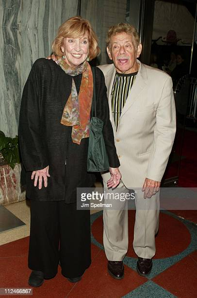 """Anne Meara and Jerry Stiller during New York Premiere of """"Duplex"""" at Beekman Theatre in New York City, New York, United States."""