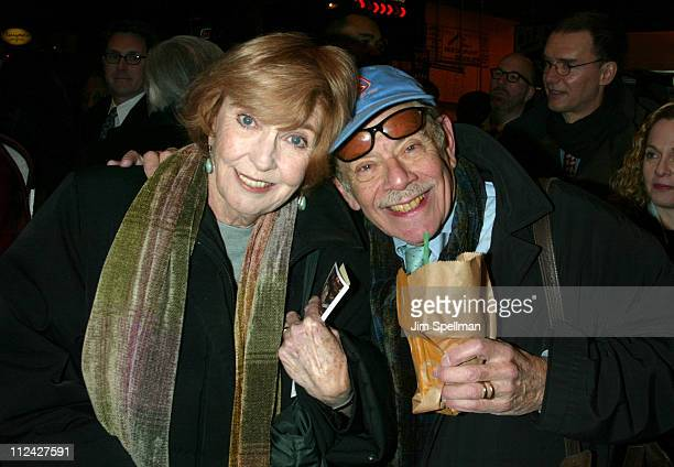 Anne Meara and Jerry Stiller during Opening Night Arrivals for the Broadway Revival of August Wilson's Ma Rainey's Black Bottom at The Royale Theatre...