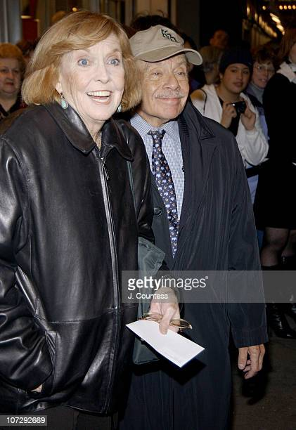 Anne Meara and Jerry Stiller during Opening Night of Roundabout Theatre Company's Broadway Production of Twentieth Century at American Airlines...