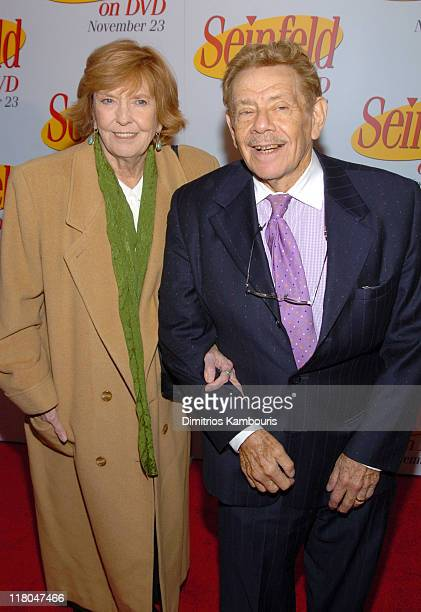 Anne Meara and Jerry Stiller during 'Seinfeld' New York DVD Release Party at Rockefeller Plaza in New York City New York United States