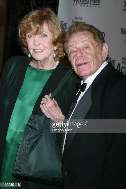Anne Meara and Jerry Stiller during The Actors Fund There's No Business Like Show Business Gala at Cipriani 42nd Street in New York City New York...