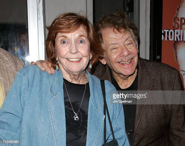 Anne Meara and Jerry Stiller during Whoopi Goldberg Joins the Cast of the OffBroadway Hit Spalding Gray Stories Left To Tell for OneNightOnly at The...