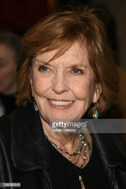 Anne Meara during Broadway opening night of Well at Longacre Theater in New York NY United States