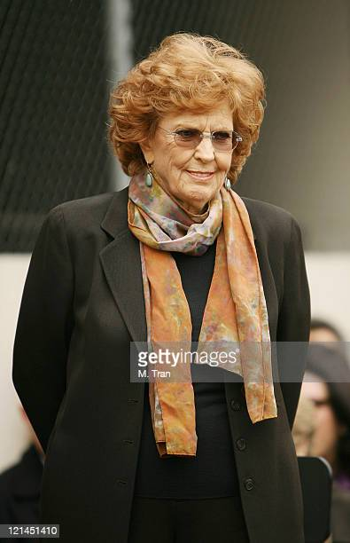 Anne Meara during Jerry Stiller and Anne Meara Honored with a Star on the Hollywood Walk of Fame at 7018 Hollywood Blvd. In Hollywood, California,...