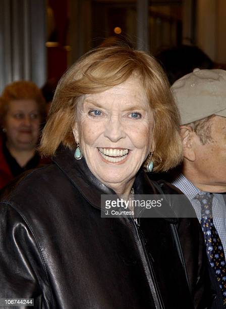 Anne Meara during Opening Night of Roundabout Theatre Company's Broadway Production of Twentieth Century at American Airlines Theatre in New York...