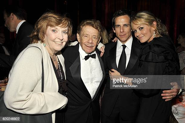 Anne Meara Jerry Stiller Ben Stiller and Christine Taylor attend THE MUSEUM OF THE MOVING IMAGE SALUTES BEN STILLER at Cipriani 42nd Street on...