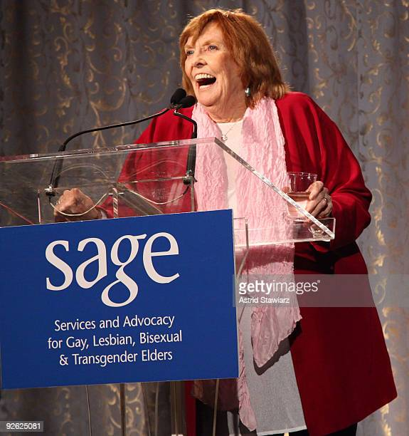 Anne Meara speaks at the 14th Annual SAGE Awards Gala at the Metropolitan Pavilion on November 2, 2009 in New York City.