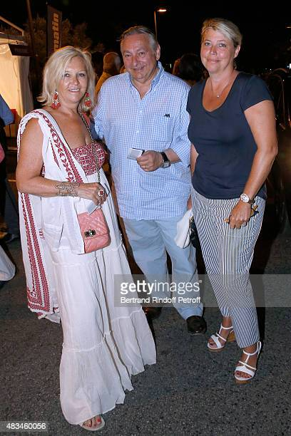 Anne Mehaut, CEO of Vranken Pommery Monopole and partner of the Festival Paul Vranken and his wife Nathalie attend the Alex Lutz Show during the 31th...