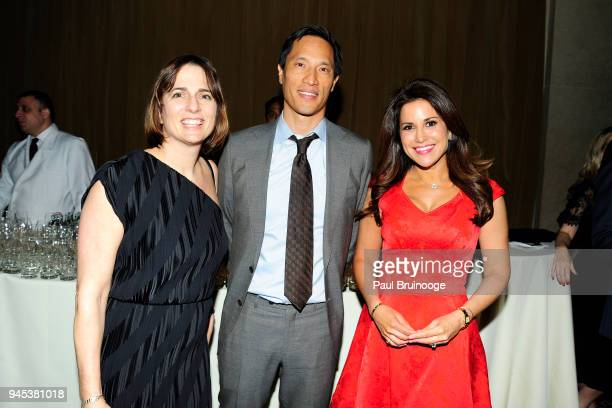 Anne Meisel Eric Wei and Gigi Stone Woods attend The Opportunity Network's 11th Annual Night of Opportunity Gala at Cipriani Wall Street on April 9...