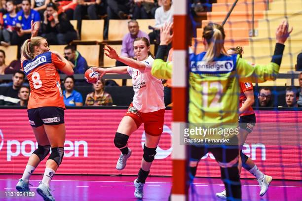 Anne Mett Hansen of Denmark during the Golden League match between Norway and Denmark on March 21 2019 in ClermontFerrand France