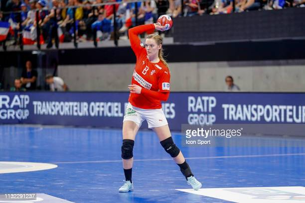 Anne Mette Hansen of Denmark during the Golden League match between France and Denmark on March 23 2019 in ClermontFerrand France
