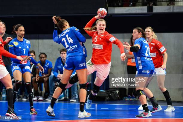 Anne Mette Hansen of Denmark during the Handball Golden League match between France and Denmark on March 23 2019 in ClermontFerrand France