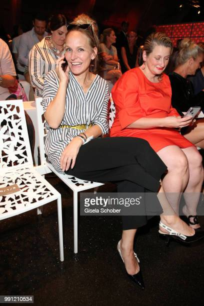 Anne Meyer Minnemann editor in chief of Gala during the Marc Cain Fashion Show Spring/Summer 2019 at WEEC Westhafen on July 3 2018 in Berlin Germany