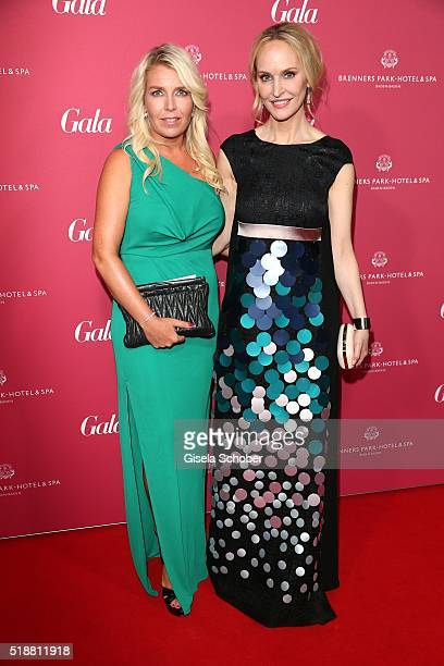 Anne Meyer-Minneman, Editor in chief of GALA, and Astrid Bleeker during the Gala Spa Awards on April 2, 2016 in Baden-Baden, Germany.