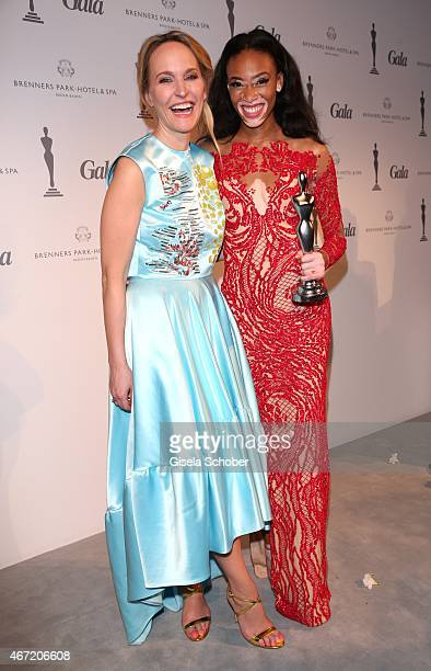 Anne MeyerMinneman Editor in chief of GALA and Model Winnie Harlow during the Gala Spa Awards 2015 at Brenners ParkHotel Spa on March 21 2015 in...