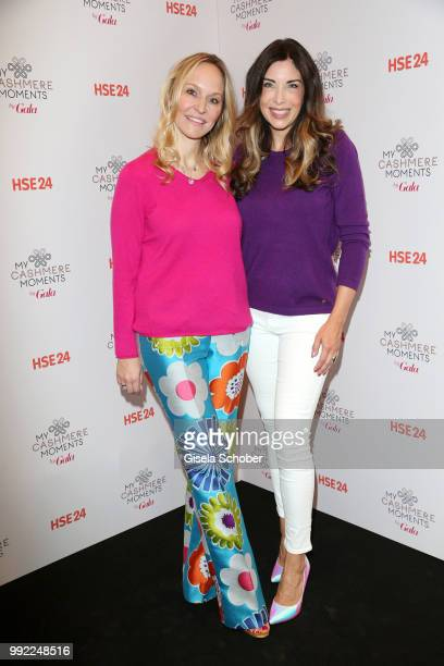 Anne MeyerMinnemann and Alexandra Polzin attend The Fashion Hub during the Berlin Fashion Week Spring/Summer 2019 at Ellington Hotel on July 5 2018...