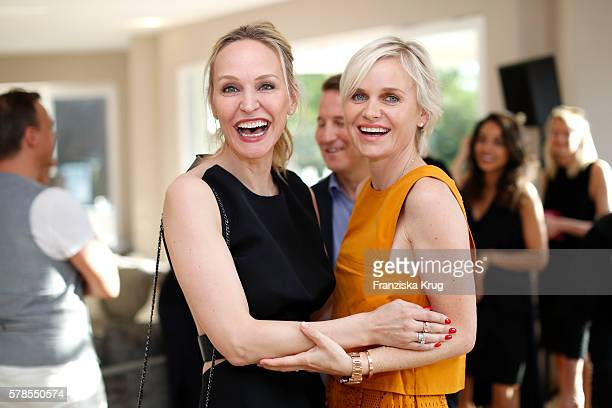 Anne Meyer-Minnemann and Barbara Sturm attend the 'Dr. Barbara Sturm & Net-A-Porter' Dinner Party on July 21, 2016 in Munich, Germany.
