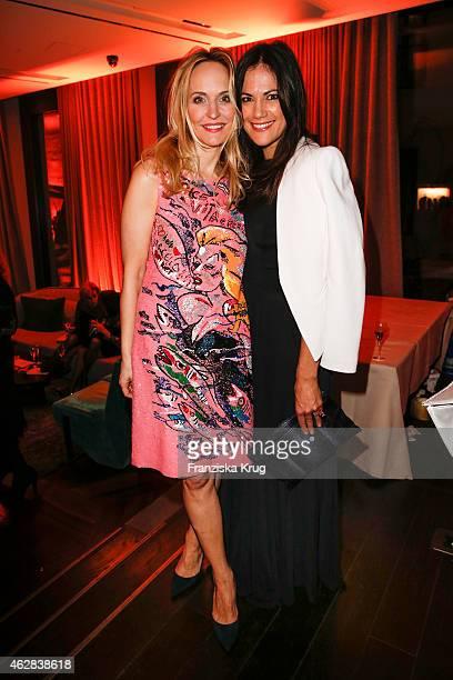Anne Meyer-Minnemann and Bettina Zimmermann attend the 'Berlin Opening Night Of Gala & Ufa Fiction on February 05, 2015 in Berlin, Germany.