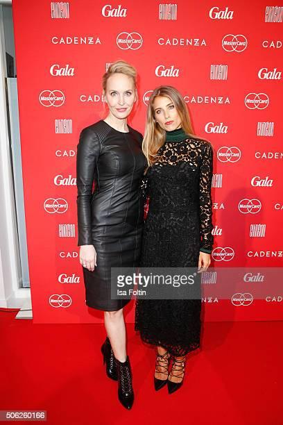 Anne MeyerMinnemann and Cathy Hummels attend the 'Gala' fashion brunch during the MercedesBenz Fashion Week Berlin Autumn/Winter 2016 at Ellington...