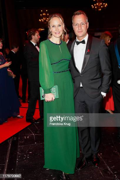 Anne Meyer-Minnemann and guest during the 26th Opera Gala aftershow party at Deutsche Oper Berlin on November 2, 2019 in Berlin, Germany.